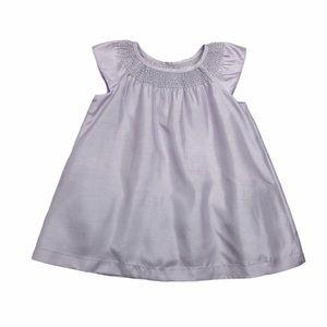 Gap Faux Silk Lilac Smocked Dress
